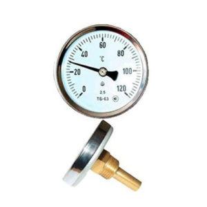 Термометр биметаллический с латунной гильзой